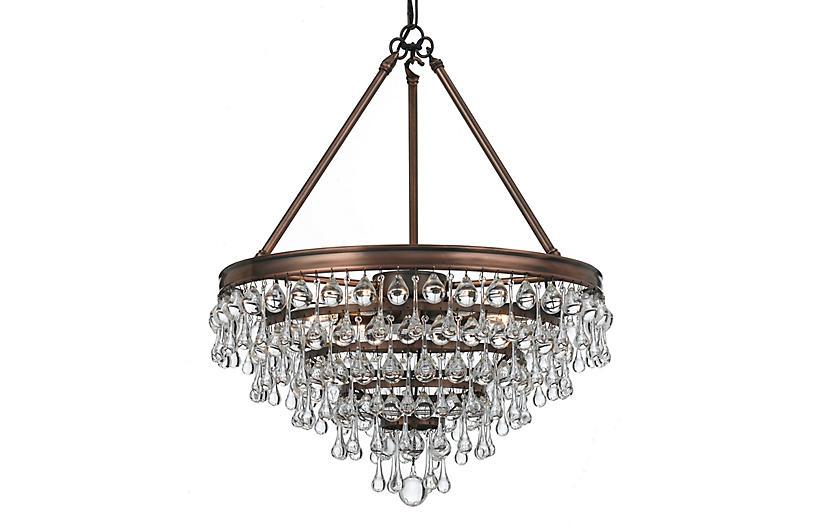6-Light Chandelier, Vibrant Bronze