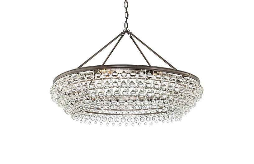 Calypso 8-Light Chandelier, Bronze