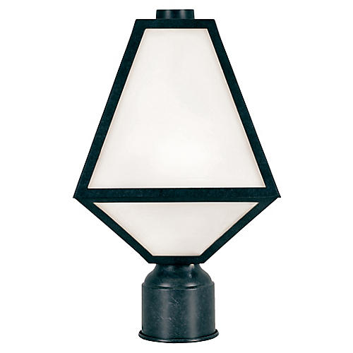 Glacier Outdoor Post Lamp, Black Charcoal
