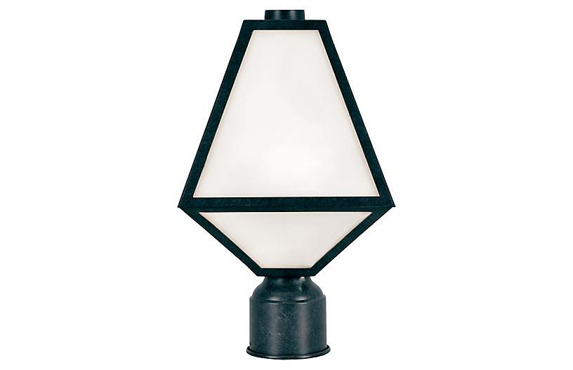 Glacier Outdoor Post Lamp, Black Charcoal