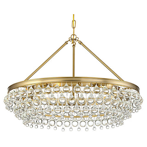 Calypso 6-Light Chandelier, Vibrant Gold