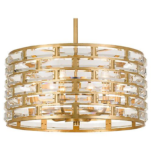Meridian 6-Light Chandelier, Antiqued Gold