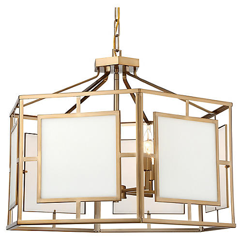 Hillcrest 6-Light Chandelier, Vibrant Gold