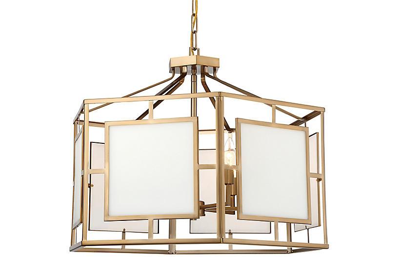 Hillcrest 6-Light Chandelier, Vibrant Gold