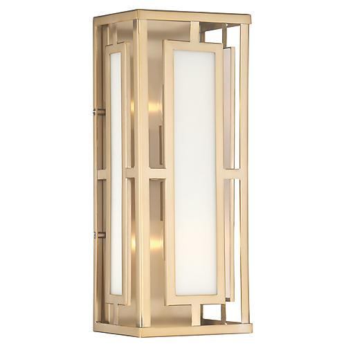 Hillcrest 2-Light Sconce, Vibrant Gold