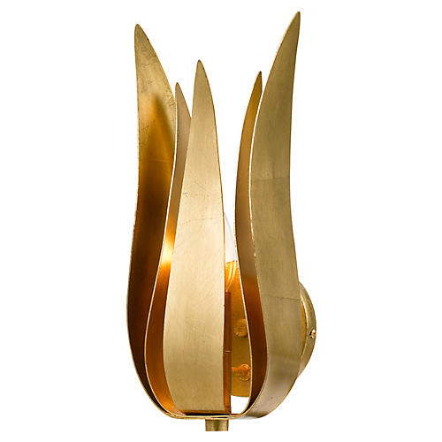 Broche Sconce, Antiqued Gold