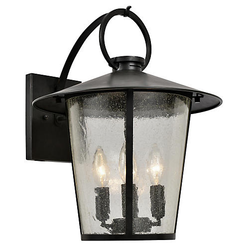 Andover 4-Light Outdoor Sconce, Matte Black