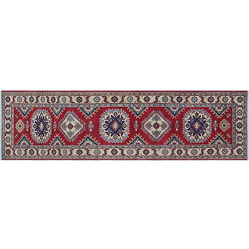 "2'8""x9'7"" Pemton Runner, Red/Ivory"