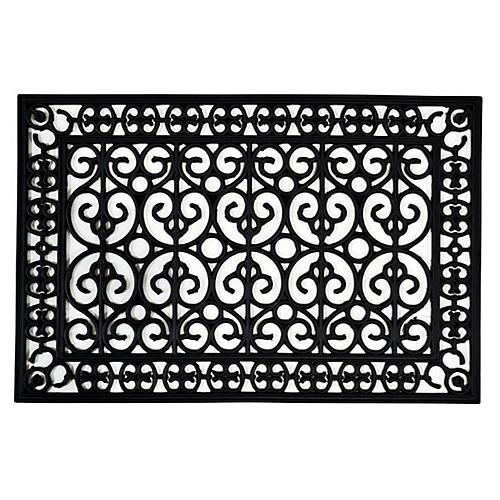 2'x3' Posto Doormat, Black
