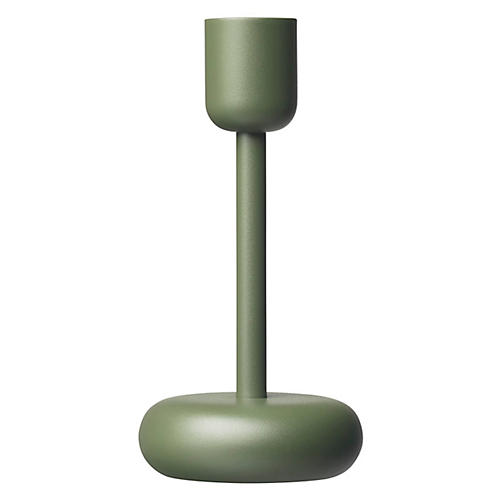 "7"" Nappula Large Candleholder, Moss Green"