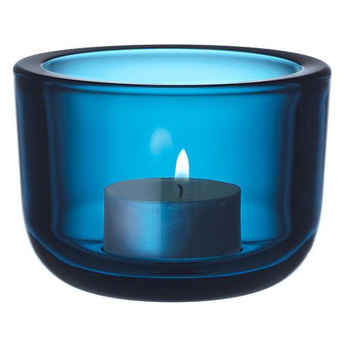 """2"""" Valeka Tealight Candleholder, Turquoise"""