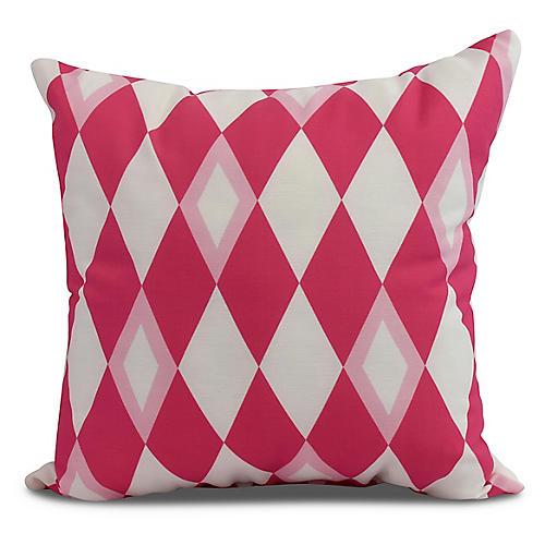 Andrews Argyle Pillow, Pink