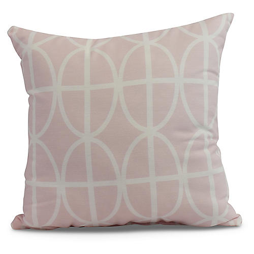 Geometric Pillow, Blush