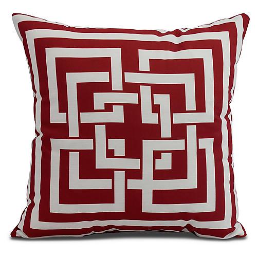Maze Link Pillow, Red