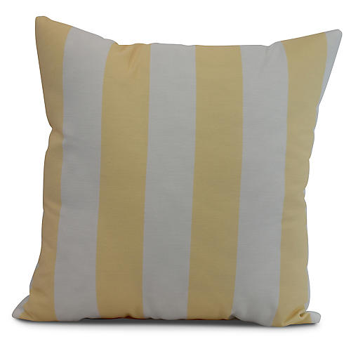 Monaco Stripe Pillow, Yellow