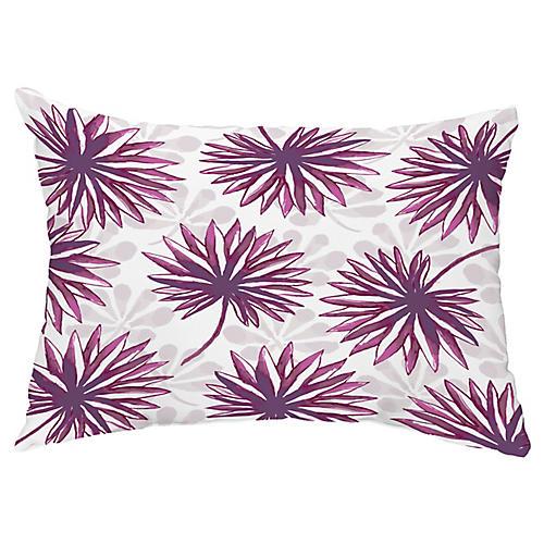 Tropical 14x20 Lumbar Pillow, Purple