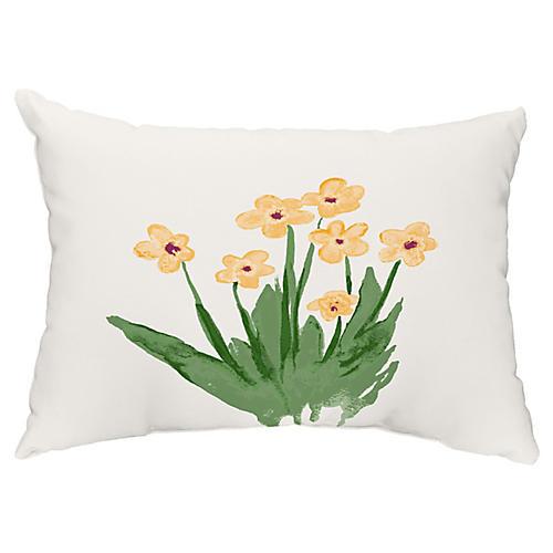 Perennial Flower 14x20 Lumbar Pillow, Yellow
