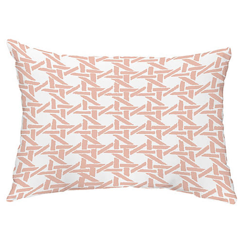 Sugarcane 14x20 Lumbar Pillow, Coral