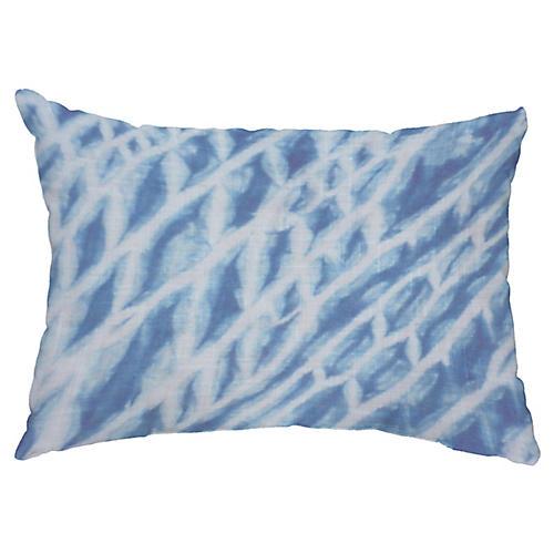 Shibori 14x20 Lumbar Pillow, Blue