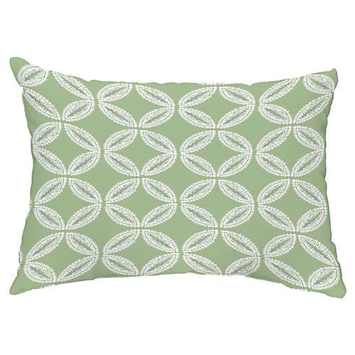 Coastal California 14x20 Lumbar Pillow, Green