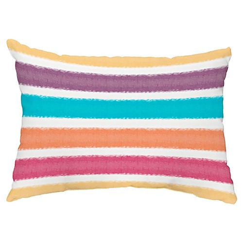 Striped 14x20 Lumbar Pillow, Yellow