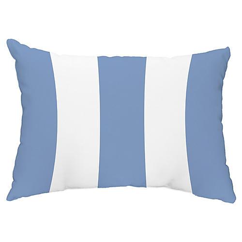 Awning-Stripe 14x20 Lumbar Pillow, Light Blue