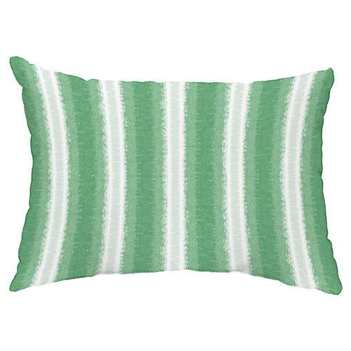 Sea Lines 14x20 Lumbar Pillow, Green