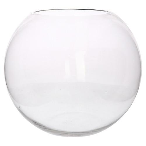 "14"" Sphere Decorative Bowl, Clear"
