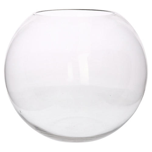 "14"" Sphere Decorative Bowl, Clear"