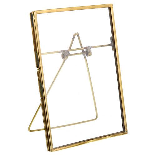 Milton Vertical Easel Frame, Brass