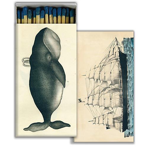 Whale & Ship Match Set, Blue