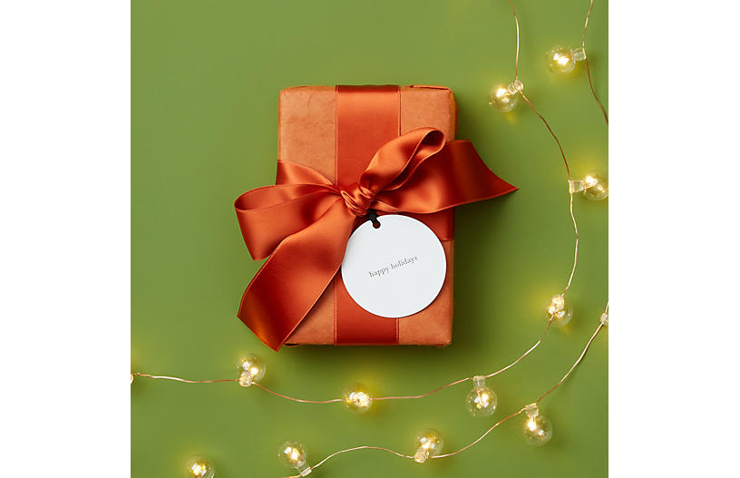 S/6 Happy Holidays Gift Tags