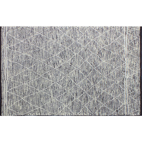 Abbas Hand-Knotted Rug, Gray