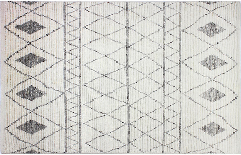 Mitchell Hand-Knotted Rug, Ivory