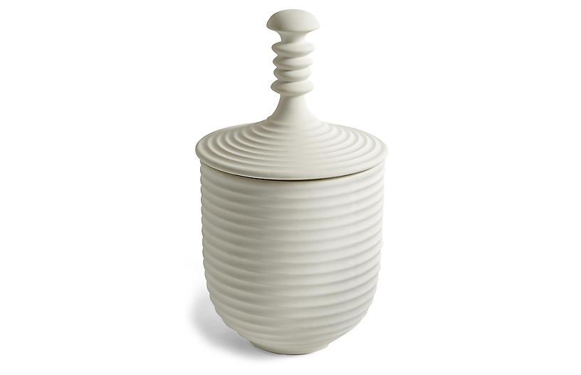 Small Orion Jar, White