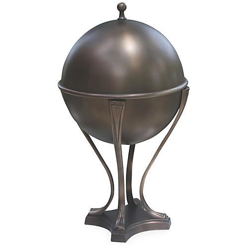 Orb Ice Bucket, Light Bronze