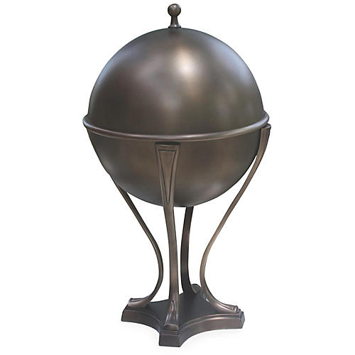 Orb Ice Bucket, Light Bronze