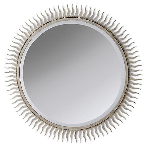 Eclipse Wall Mirror, Silver Leaf