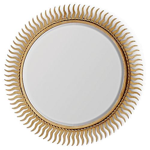 Eclipse Accent Mirror, Gold Leaf