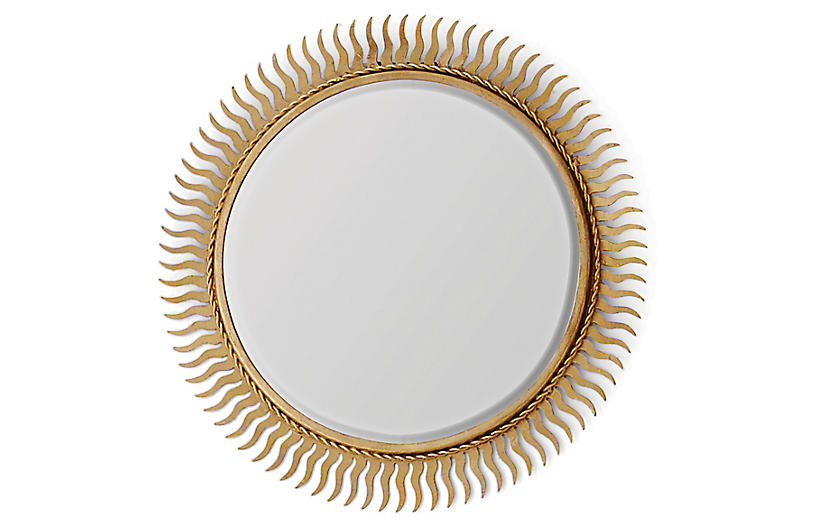 Eclipse Accent Mirror, Gold Leaf
