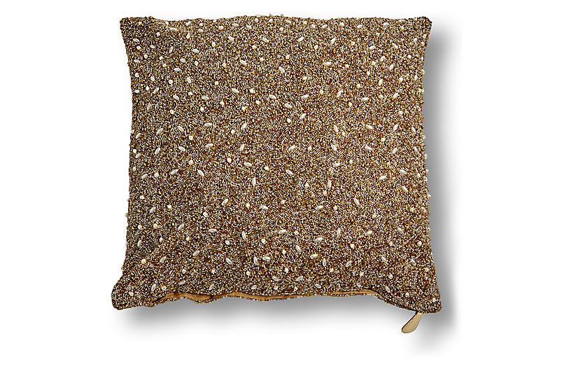 Manda 20x20 Pillow, Gold