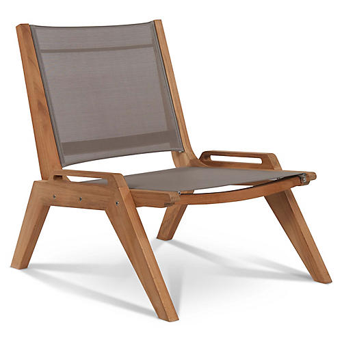 Draper Sling Accent Chair, Taupe