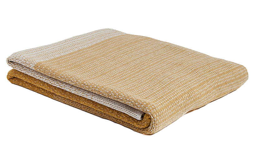 Ombré Throw, Straw