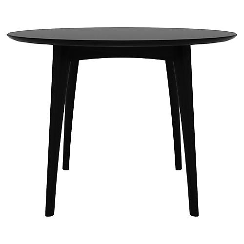 Osso Round Bistro Table, Black