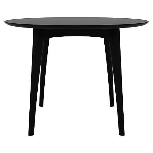 Osso Round Bistro Table, Black