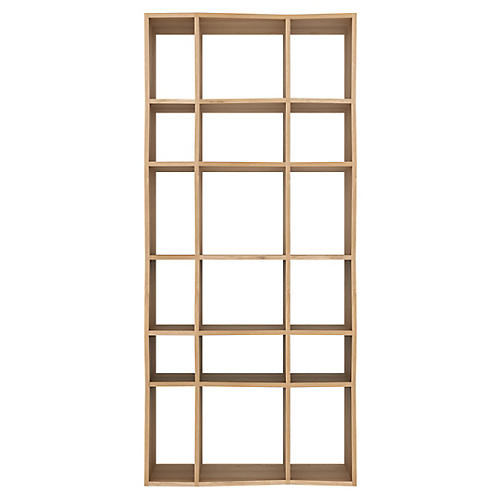 Z Rack Bookcase, Oak