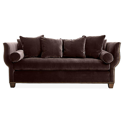 Missy Sofa, Chocolate Velvet