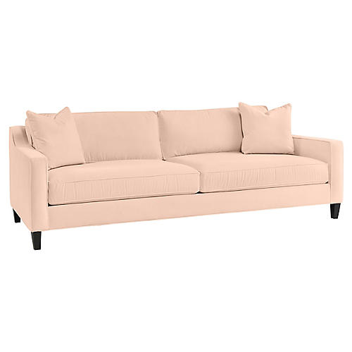 Alison Sofa, Light Pink Velvet