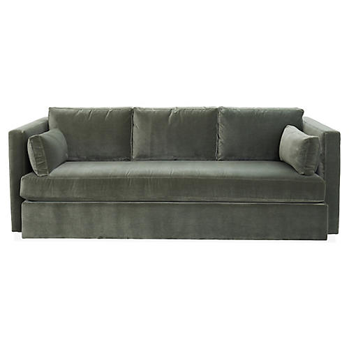 Rosalyn Sofa, Juniper Velvet
