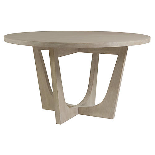 Brio Round Dining Table, Bianco White